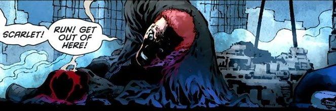 Jason Todd nakazuje Scarlet uciekać