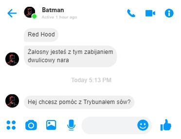 Rozmowa Batmana z Red Hoodem